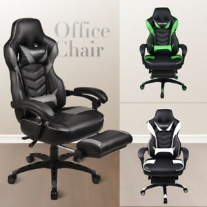 Computer Gaming Chair Ergonomic Desk Seat Adjustable Swivel High Back Recliner