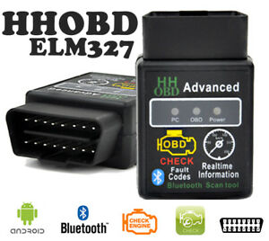 Hhobd Elm327 Obd2 Obdii V2 1 Android Bluetooth Car Auto Diagnostic Scanner Tool