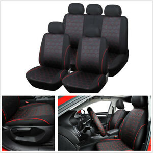 Classic Soccer Ball Style Car Front Rear Standard Ediation 5 seat Seat Covers
