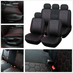 Car Soccer Ball Style Jacquard Fabric Standard Ediation Front Rear Seat Covers