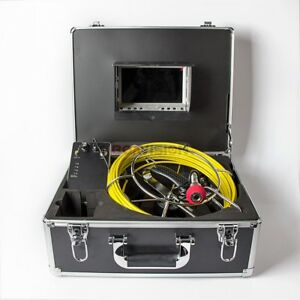 Sewer Drain Pipe Cleaning Inspection Snake Video Camera 30m 100ft 7 Lcd Dvr 8gb