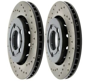 Stoptech Mk4 Mkiv Vw R32 20ae 337 Gli Drilled Rear Brake Rotors Discs Set Pair