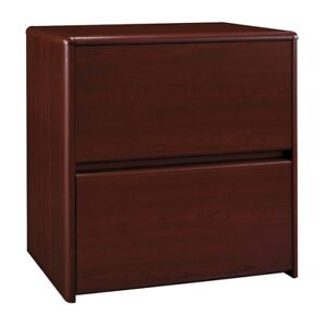 Bush Furniture Northfield Lateral File Cabinet Ex17781 Harvest Cherry Modern