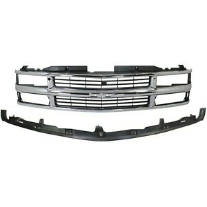 Bumper Kit For 94 98 Chevrolet K1500 94 2000 K2500 Front 2pc