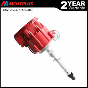Racing Hei Distributor Red Cap Super Coil For Chevy Sbc 305 350 400 Small Block