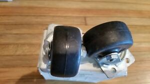 Vintage Nos Bassick 2 Soft Rubber Swivel Bearing Caster Wheels