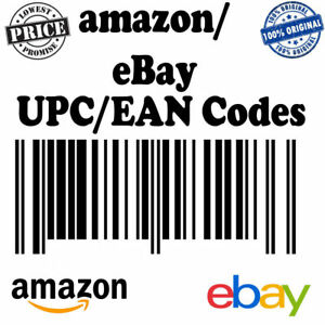 100 000 Upc Codes Ean Numbers Plus Barcodes For Any Marketplace Worldwide