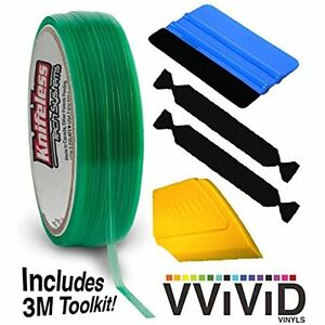 Knifeless Squeegees Vinyl Wrap Cutting Tape Finishing Line 10m Plus 3m Toolkit