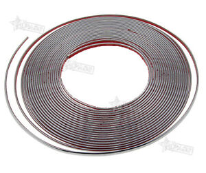 New 6mm X 15m Chrome Styling Moulding Trim Strip For Cars Vans Vehicles 49ft