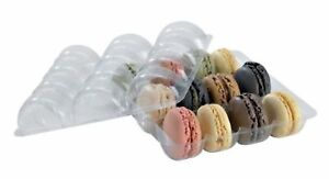 Clear Plastic Macaron Box Insert case Of 75 Packnwood Macaron Cookie New
