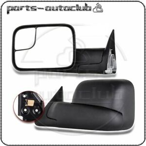 Manual Fold For 1994 01 Dodge 1500 94 02 Ram 2500 3500 Towing Mirrors Side Pair