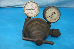 Marquette Air Pressure Regulator Valve 2 Gauges