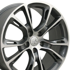 20 Grand Cherokee Srt8 Wheels Gunmetal Machined Face Rims Fit Jeep Cp