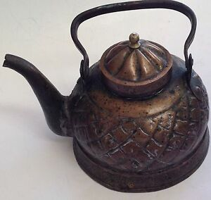 Antique Tea Kettle Pot Hand Hammered Middle Eastern Persian Arabic