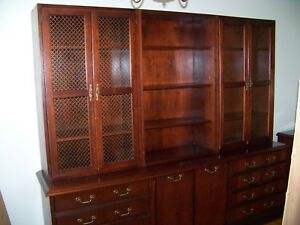 Paoli Credenza With Hutch High End Office Furniture