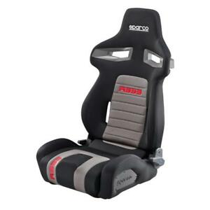 Sparco R333 Racing Tuning Reclining Adjustable Sports Seat Black Red Grey