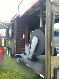 Log Cabin Mobile Bbq Trailer
