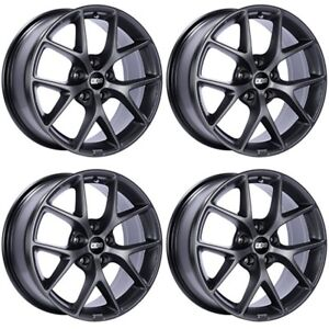 Bbs Sr Wheels 18x8 5x112 45 45mm 45 Offset Sr016 Rims Satin Grey Set Of Four