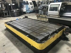 T slotted Floor Plate 11 2 X 75 X 19 Thick Boring Mill Machine Cnc Lathe