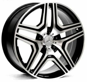 22 Black Machine Amg Style Wheels Rims Fits Mercedes Benz Gl Gl450 Gl550 Gl350