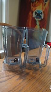 Two Vitamix part 15502 48 Oz Polycarbonate Containers without Lid Or Blade
