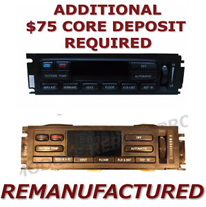 Reman 96 97 Lincoln Town Car Ac Heater Climate Temperature Control Eatc Exchange