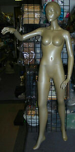 72 Female Full Body Gold Tone Art Deco Mod Style Mannequin