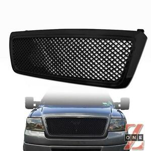 Ford F150 04 08 Bentley Mesh Front Hood Bumper Grille Kit Replacement Black