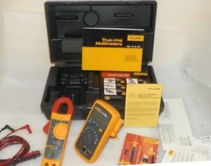 Fluke Combo Kit 112 322 True Rms Hard Case With Leads Manuals Great Cond