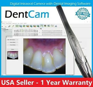 2017 Dentcam Digital 740 Intraoral Intra Oral Dental Camera Usb Pc 32 64 Bit
