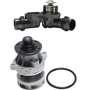 Water Pump Thermostat Housing Assembly Kit Set For Bmw New
