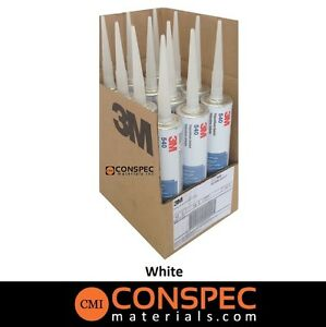 3m 540 White Polyurethane Sealant Case 12 Cartridges Waterproof Marine Grade