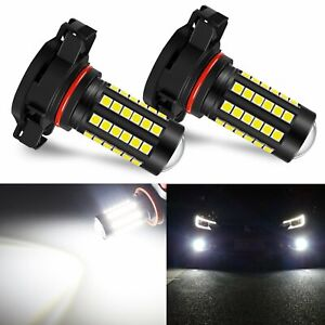Jdm Astar 2x 9009 5202 5201 Csp Led Fog Driving Lights Bulb 6000k Xenon White