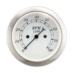 Taiwan Made 85 Mm Vintage Auto Classic Gauge Electrical Tachometer 0 8000 Gauge