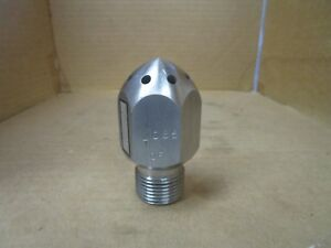 Stainless Water Blaster Sewer Drain Jetter Jetting Spray Nozzle 116495 1085 Of