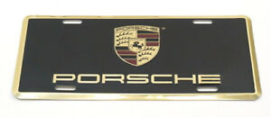 Genuine Porsche Metal Vanity Plate License W Full Color Crest Oem Pna701005