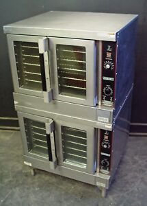 Hobart Gas Commercial Full Size Double Stacked Convection Oven Hobart Hgc5x 10
