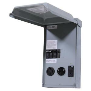 50 Amp Rv Power Outlet Box 50 30 20a Panel Temporary Load Center Motorhome 240v
