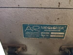 Associated Research Meg chek Model 2201 One Man Fault Finder And Cable Locator