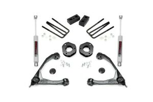 Rough Country 3 5in Gm Susp Lift W Upper Control Arms 07 16 1500 Alum Knuckles