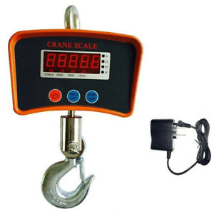 1000kg 2200 Lbs Digital Hanging Scale Mini Industrial Crane Scale Warehouse Ac