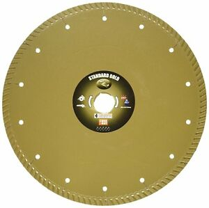 Diamond Core Cut 12494 9 inch By 0 095 By 7 8 inch Standard Gold Turbo Blade