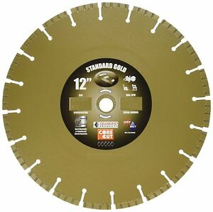 Diamond Products Core Cut 58452 12 in 0 125 Gold High Performance Turbo Blade