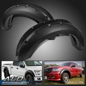 Fender Flares Pocket River Set Bolt On Smooth Black For Ford F150 2004 2008