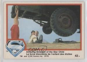 1978 O-Pee-Chee Superman: The Movie Amazing Strength of Star Child #42 0n8 $3.10