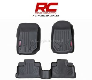 2007 13 Jeep Jk Wrangler 4 door Rough Country Fitted Floor Mats Set m 60712