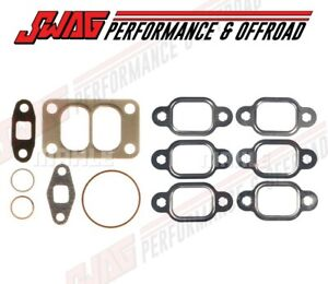 Mahle Exhaust Manifold Turbo Gasket Set For 91 98 Dodge 5 9 Cummins 12v Diesel