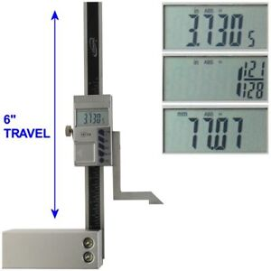 Height Gauge 6 Digital Electronic Scale Magnetic Base 1 128 Igaging