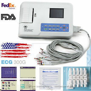 Ecg300g 3 Channel 12 Lead Ecg ekg Machine With Printer And Paper usb Software us