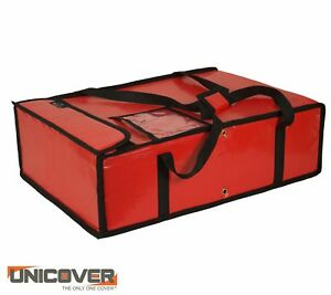 Red Thermal Pizza Delivery Bag For Pizza Boxes Of 1 2 Meter